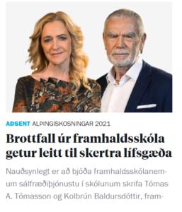 Read more about the article Brottfall úr framhaldsskóla getur leitt til skertra lífsgæða